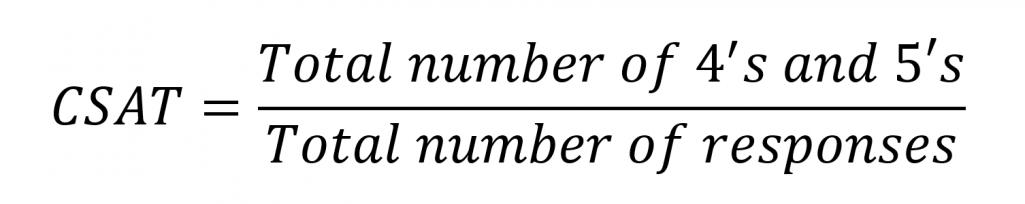 Customer Satisfaction (CSAT) Score Formula